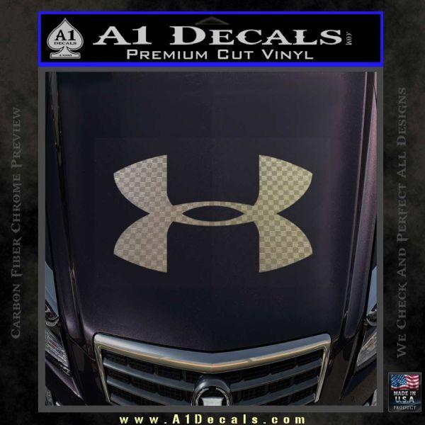 Under Armor Logo Decal Sticker A Decals - Chrome custom vinyl decals for trucks