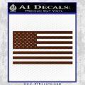 United States Flag Decal Sticker D1 BROWN Vinyl 120x120