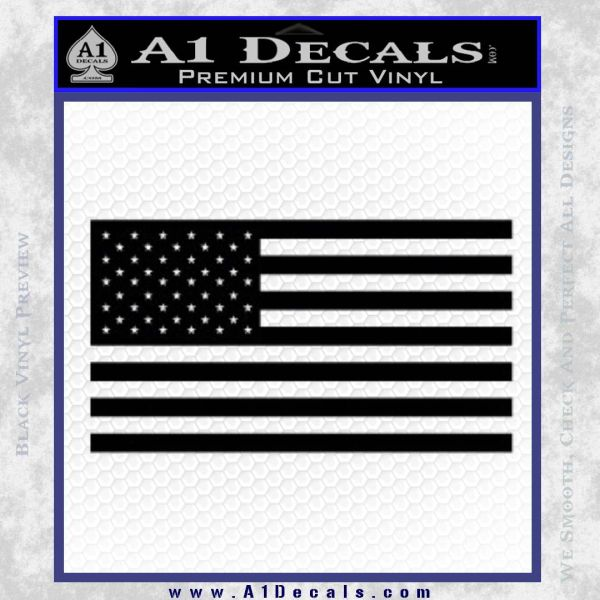 United States American Flag Decal Sticker D1 A1 Decals