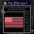 United States Flag Decal Sticker D1 Pink Emblem 120x120