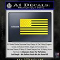 United States Flag Decal Sticker D1 Yellow Laptop 120x120