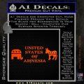 United States Of Amnesia D2 Decal Sticker Orange Emblem 120x120