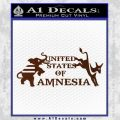 United States Of Amnesia N1 Decal Sticker BROWN Vinyl 120x120