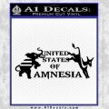 United States Of Amnesia N1 Decal Sticker Black Vinyl 120x120