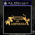 United States Of Amnesia N1 Decal Sticker Gold Vinyl 120x120