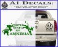 United States Of Amnesia N1 Decal Sticker Green Vinyl Logo 120x97