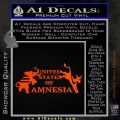 United States Of Amnesia N1 Decal Sticker Orange Emblem 120x120