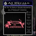 United States Of Amnesia N1 Decal Sticker Pink Emblem 120x120