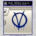 V For Vendetta Bloody D1 Decal Sticker Blue Vinyl 120x120