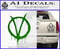 V For Vendetta Bloody D1 Decal Sticker Green Vinyl Logo 120x97