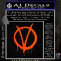 V For Vendetta Bloody D1 Decal Sticker Orange Emblem 120x120