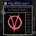 V For Vendetta Bloody D1 Decal Sticker Pink Emblem 120x120