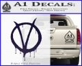 V For Vendetta Bloody D1 Decal Sticker PurpleEmblem Logo 120x97
