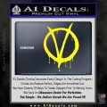 V For Vendetta Bloody D1 Decal Sticker Yellow Laptop 120x120