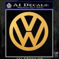 VW Decal Sticker Logo Emblem Gold Vinyl 120x120