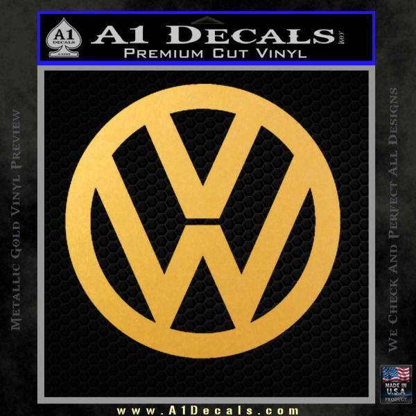 Vw decal sticker logo emblem gold vinyl