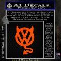 VW Devilish Volkswagen D1 Decal Sticker Orange Emblem 120x120