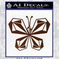 Volcom Butterfly Decal Sticker BROWN Vinyl 120x120