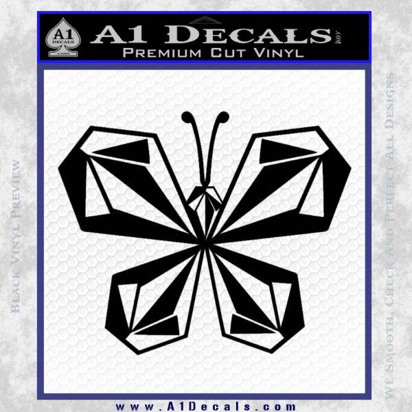 Volcom Butterfly Decal Sticker Black Vinyl