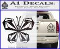 Volcom Butterfly Decal Sticker Carbon FIber Black Vinyl 120x97
