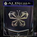 Volcom Butterfly Decal Sticker Carbon FIber Chrome Vinyl 120x120