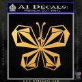 Volcom Butterfly Decal Sticker Gold Vinyl 120x120