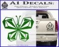 Volcom Butterfly Decal Sticker Green Vinyl Logo 120x97