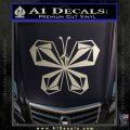 Volcom Butterfly Decal Sticker Metallic Silver Emblem 120x120