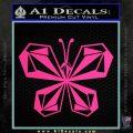 Volcom Butterfly Decal Sticker Pink Hot Vinyl 120x120