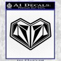 Volcom Heart Decal Sticker Black Vinyl 120x120