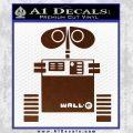Wall e D1 Decal Sticker BROWN Vinyl 120x120