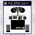 Wall e D1 Decal Sticker Black Vinyl 120x120