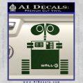 Wall e D1 Decal Sticker Dark Green Vinyl 120x120
