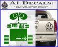Wall e D1 Decal Sticker Green Vinyl Logo 120x97