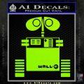 Wall e D1 Decal Sticker Lime Green Vinyl 120x120