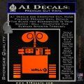 Wall e D1 Decal Sticker Orange Emblem 120x120