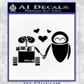 Wall e and Eve Love Decal Sticker Black Vinyl 120x120