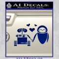 Wall e and Eve Love Decal Sticker Blue Vinyl 120x120
