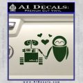 Wall e and Eve Love Decal Sticker Dark Green Vinyl 120x120