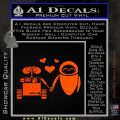 Wall e and Eve Love Decal Sticker Orange Emblem 120x120