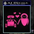 Wall e and Eve Love Decal Sticker Pink Hot Vinyl 120x120