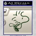 Woodstock Flying Decal Sticker Dark Green Vinyl 120x120
