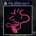 Woodstock Flying Decal Sticker Pink Hot Vinyl 120x120