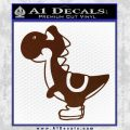 Yoshi Decal Sticker BROWN Vinyl 120x120