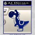Yoshi Decal Sticker Blue Vinyl 120x120