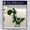 Yoshi Decal Sticker Dark Green Vinyl 120x120