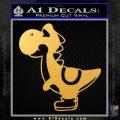 Yoshi Decal Sticker Gold Vinyl 120x120