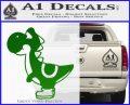 Yoshi Decal Sticker Green Vinyl Logo 120x97