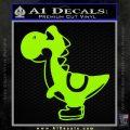 Yoshi Decal Sticker Lime Green Vinyl 120x120
