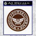 Zelda Power Courage Wisdom Triforce Decal Sticker BROWN Vinyl 120x120